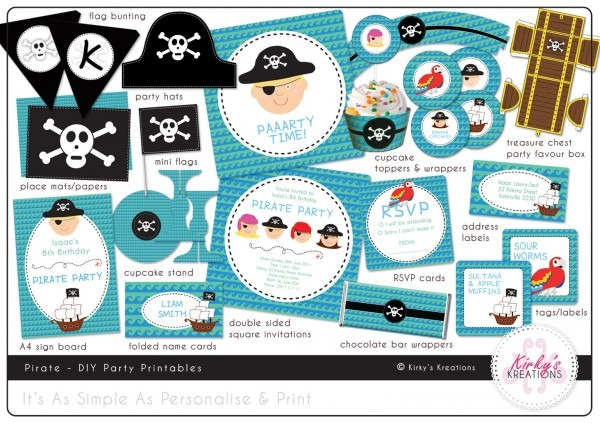 Free Printable Pirate Party Invitations Templates