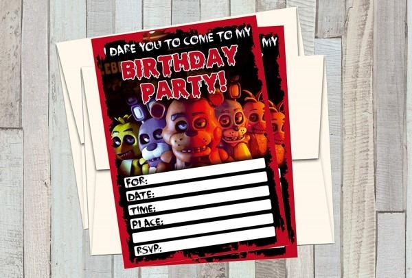 Amazon Com  12 Five Nights At Freddy's Birthday Invitations (12