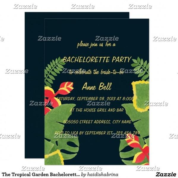 The Tropical Garden Bachelorette Party Invitation
