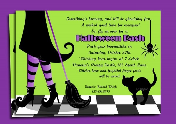 Witches Bunco Party Invitation