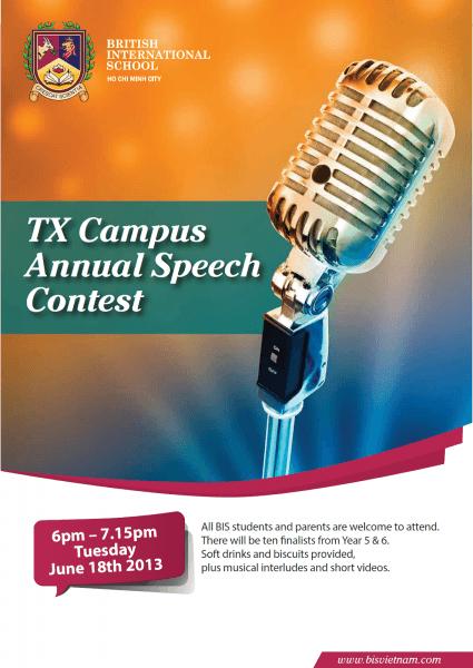Nice Speech Contest Flyer Design