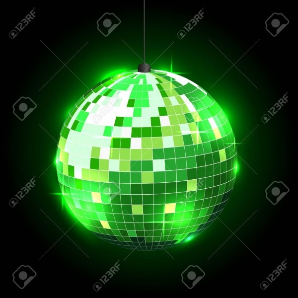 Disco Ball On Black Background  Can Be Used In Invitations