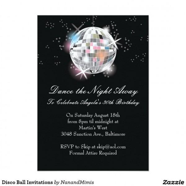 Disco Ball Invitations