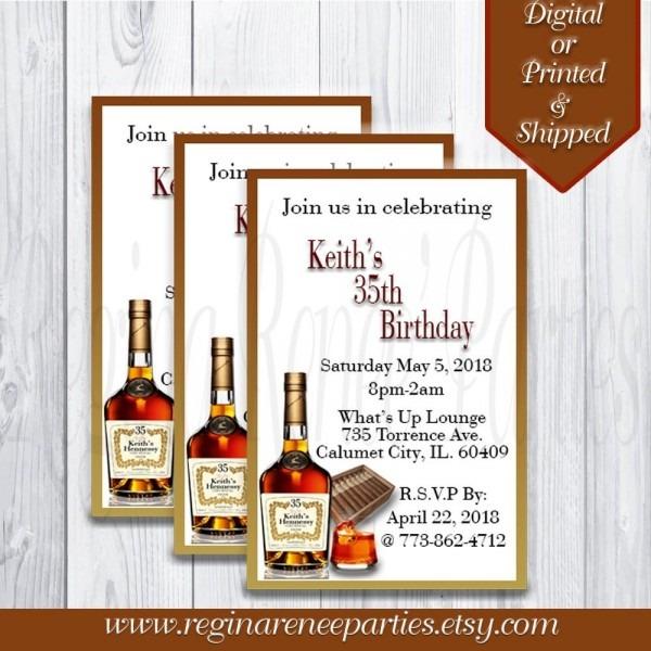 Hennessy Theme Invitations! Any Event! Any Theme