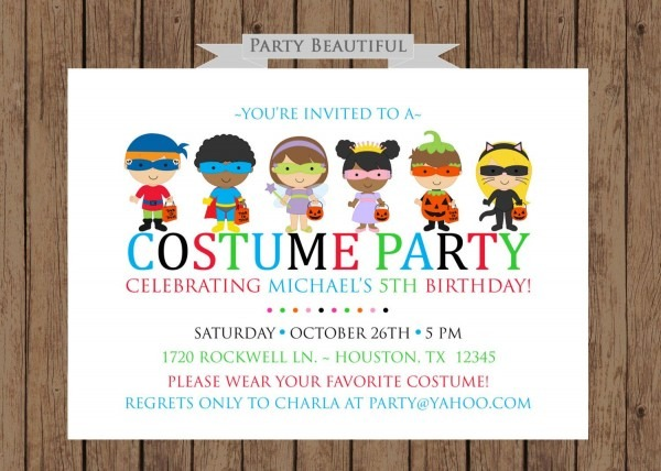 Costume Party Birthday Invitationboys Halloween By Partybeautiful