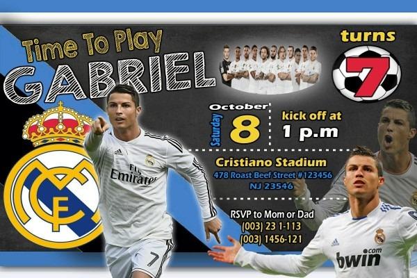 Cristiano Ronaldo Soccer Birthday Invitation