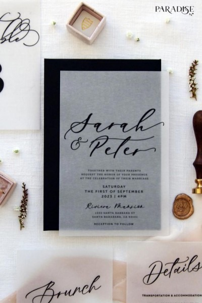 How To Address Wedding Invitations Modern