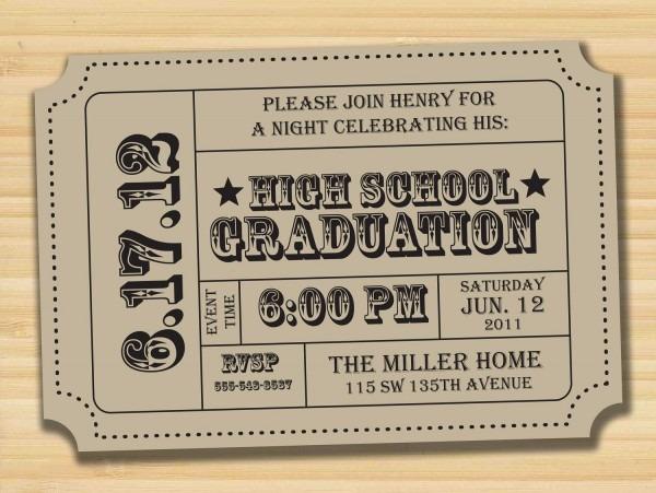 Graduation Party, Printable Invitation, Admission Ticket, Ticket