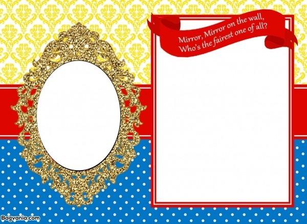 Awesome Free Printable Snow White Birthday Invitations