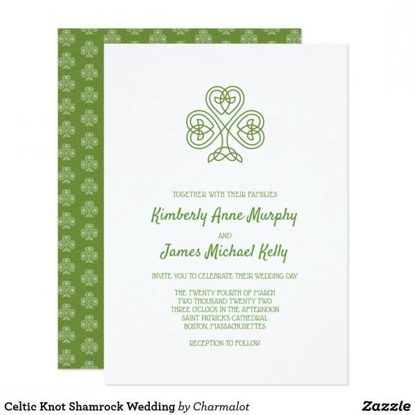 Celtic Knot Shamrock Wedding Invitation