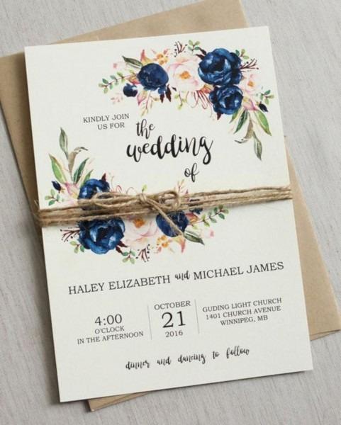 16 Beautiful Wedding Invitation Ideas