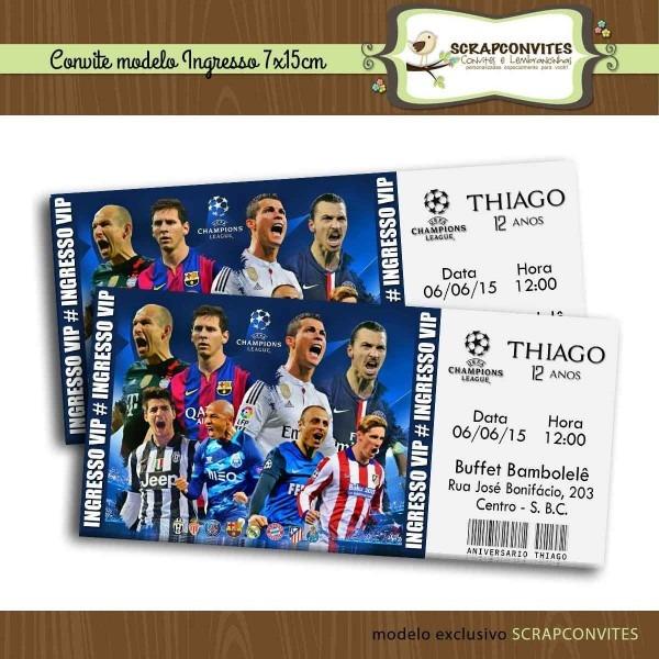 Convite Ingresso Champions League