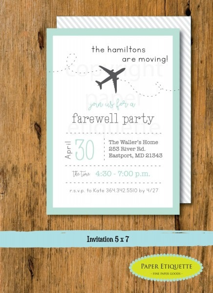 Going Away Party, Moving Party Invitation, Beer Packing Party, We