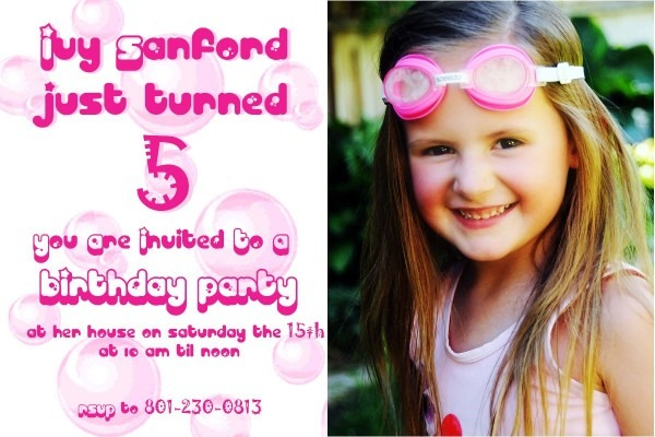 5 Years Old Birthday Invitations