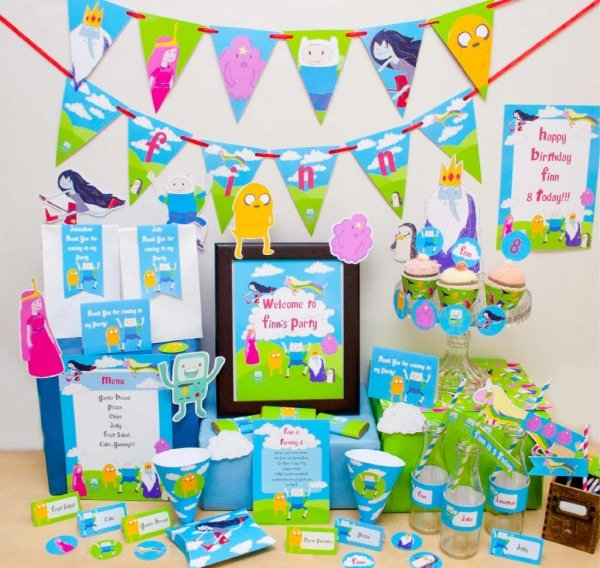 Adventure Time Birthday Invitations