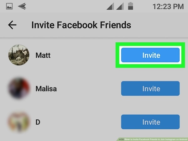 How To Invite Facebook Friends To Join Instagram On Android