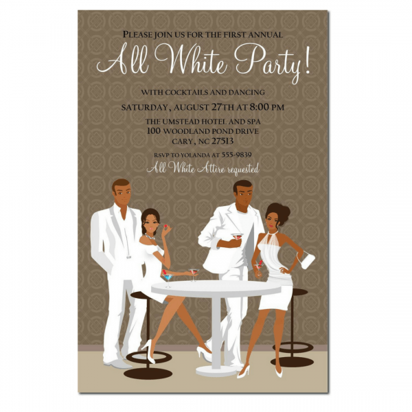 Webuyblack   Invitation Paper   African American All White Party