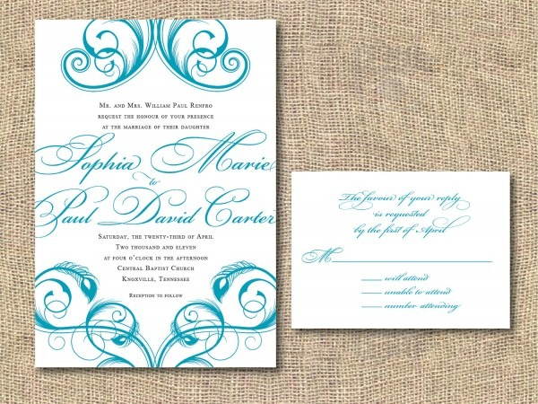 Amazing Printable Wedding Invitations Printable Wedding
