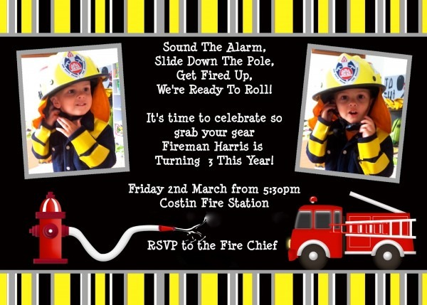 Giggleberry Creations!  Firefighter Party