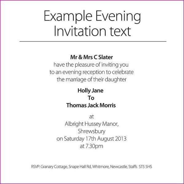 Invitation Examples