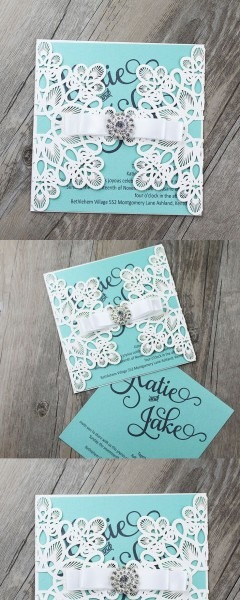 Tiffany Blue Invitations, Tiffany Blue Wedding Invitations