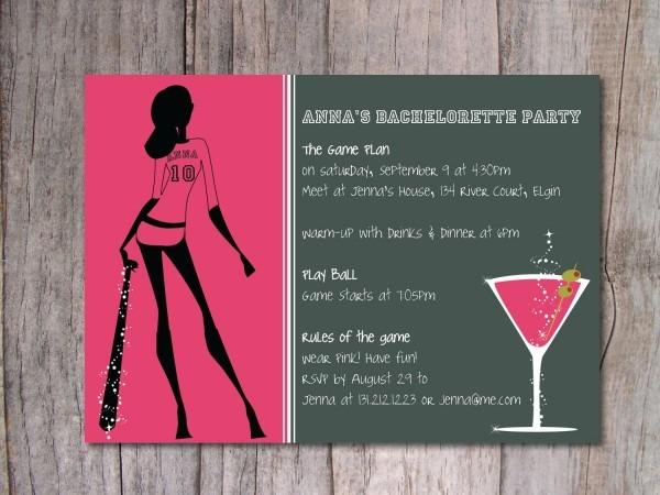 Baseball Bachelorette Party Invitation  $15 00, Via Etsy