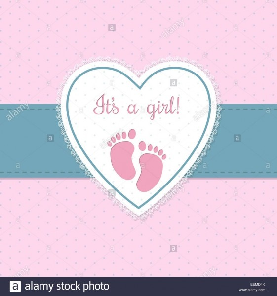 Baby Shower Invitation Design In Blue And Pink With Footprints