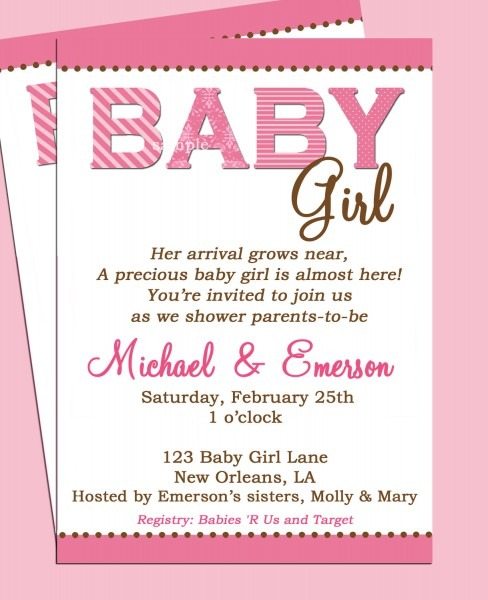 Baby Shower Invitation Wording Ideas Plus Baby Shower Rsvp Wording