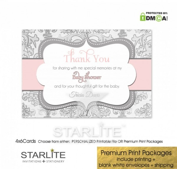 Baby Shower Thank You Cards Ideas Uk Yellow And Gray Invitations