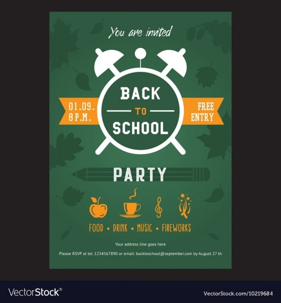 Back, To, School, Party, Flyer & Template Vector Images (48)