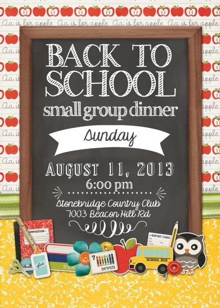 Momfessionals  Back To School Dinner