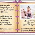 Baptismal Invitation Message