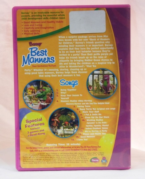 Barney Best Manners Dvd On Popscreen