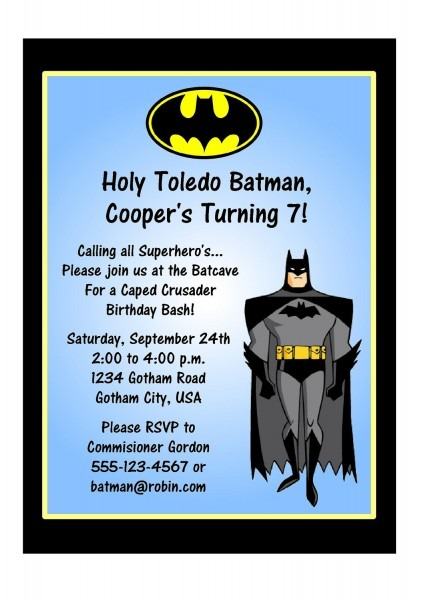 Batman Birthday Invitations Batman Birthday Invitations As Well As