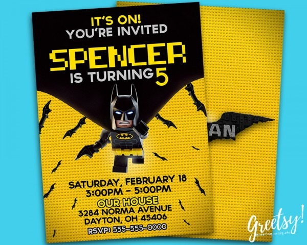 Batman Party Invitations Batman Party Invitations In Addition To