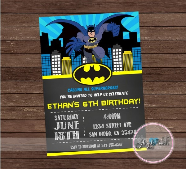 Batman Party Invitations Batman Party Invitations For Your Party