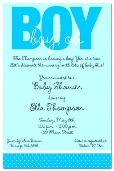 Surprise Baby Shower Invitation Wording For A Boy