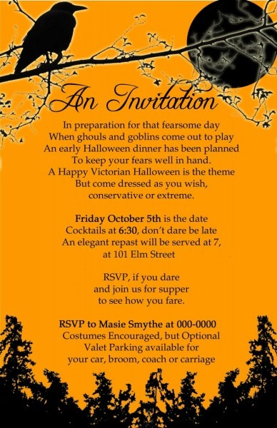 Witches Tea Party Invitations