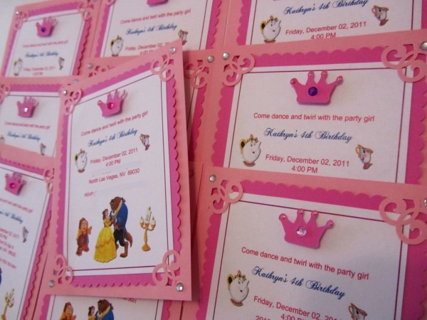 Belle Beauty Princess And Beast Invitations