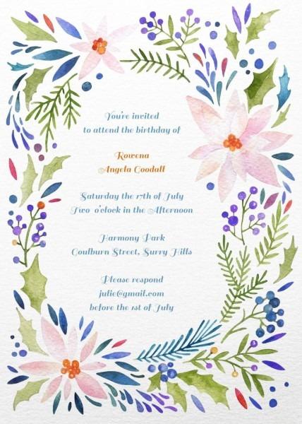 Birthday Invitation Templete Maker Online Free Printable First