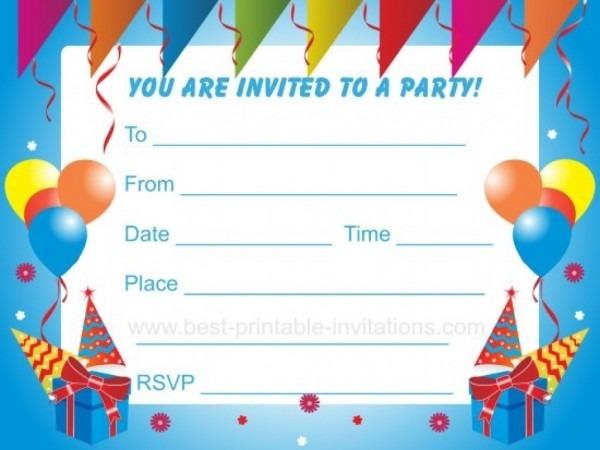 Boys Birthday Party Invitations Templates