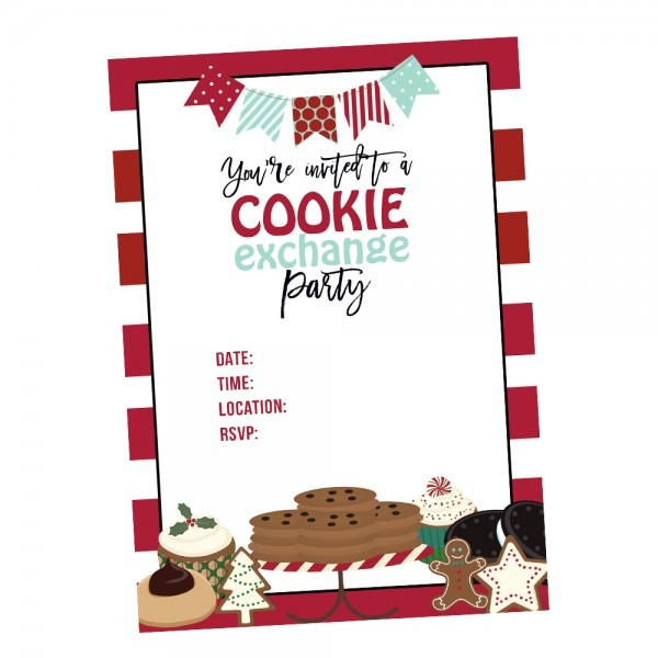 Cookie Exchange Holiday Party Invitations & Ideas With Free