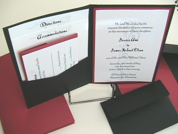 Brilliant Pocket Wedding Invitations Printable Pocket Wedding