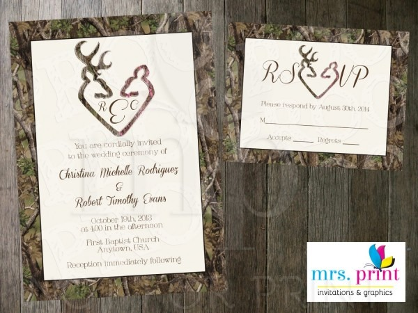 Buck And Doe Wedding Invitations