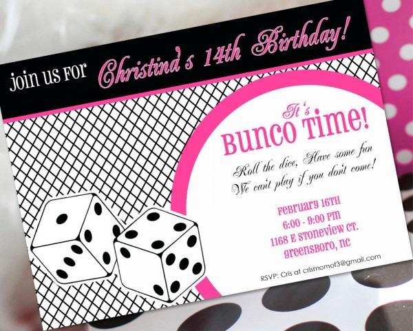 Bunco Invitations For Christmas – Fun For Christmas & Halloween