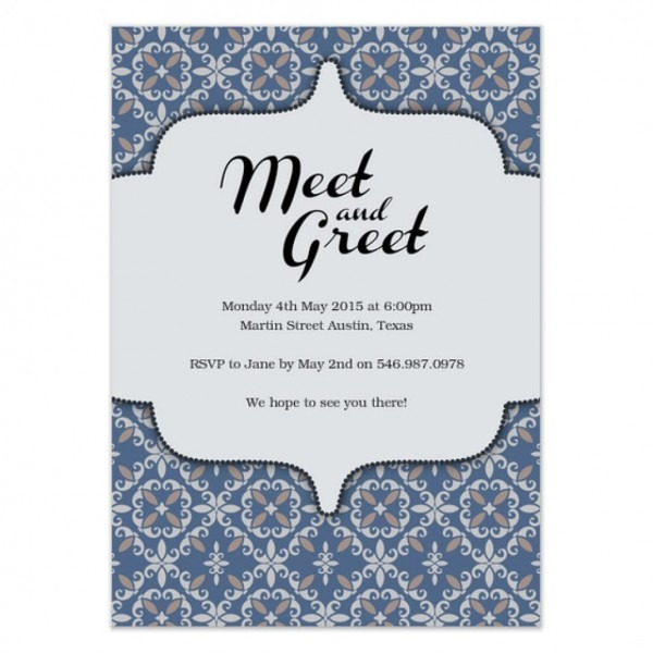 Invitation Wording For Meet And Greet