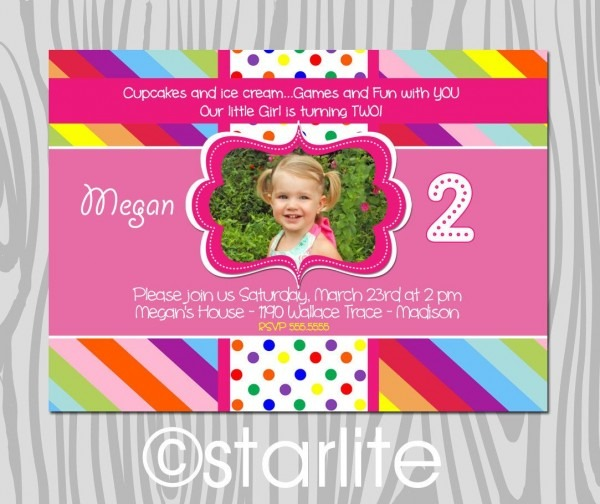 Make Your Own 2nd Birthday Invitations Templates