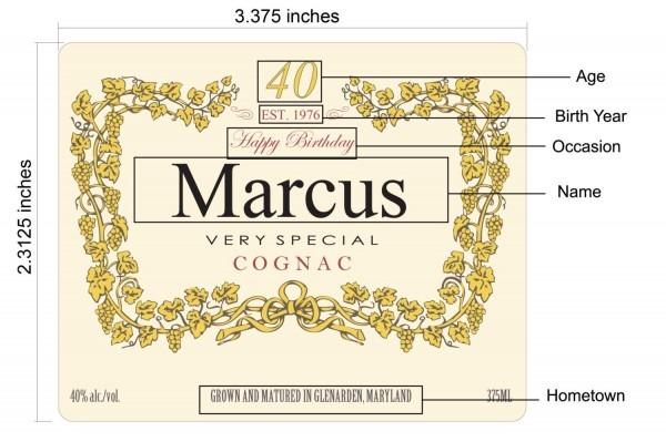Hennessy Bottle Label Printable 375ml Custom
