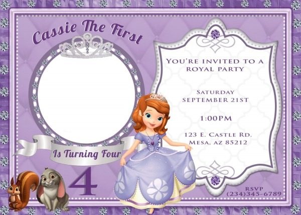 Sofia The First Invitation By 4evrdesignsbykristyn On Etsy, $12 00