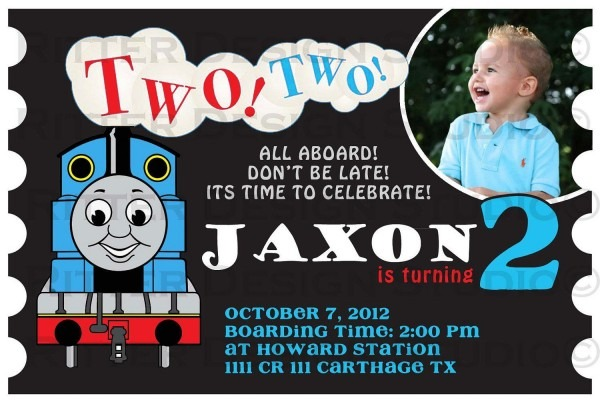 Train Birthday Invitations Free